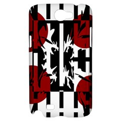 Red, black and white elegant design Samsung Galaxy Note 2 Hardshell Case