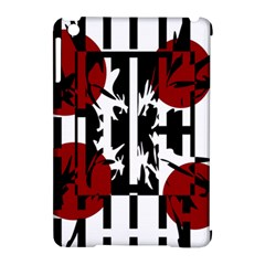 Red, black and white elegant design Apple iPad Mini Hardshell Case (Compatible with Smart Cover)