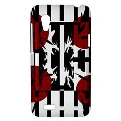 Red, black and white elegant design HTC Desire VT (T328T) Hardshell Case