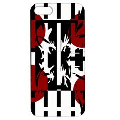 Red, black and white elegant design Apple iPhone 5 Hardshell Case with Stand