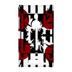 Red, black and white elegant design Nokia Lumia 925
