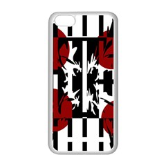 Red, black and white elegant design Apple iPhone 5C Seamless Case (White)