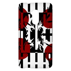 Red, black and white elegant design HTC One Max (T6) Hardshell Case