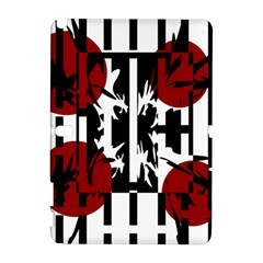 Red, black and white elegant design Samsung Galaxy Note 10.1 (P600) Hardshell Case