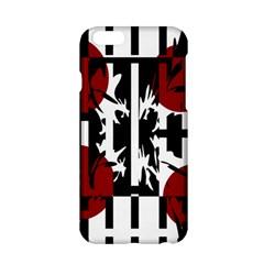 Red, black and white elegant design Apple iPhone 6/6S Hardshell Case