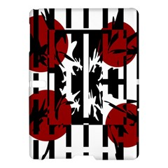 Red, black and white elegant design Samsung Galaxy Tab S (10.5 ) Hardshell Case
