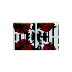 Red, black and white elegant design Cosmetic Bag (XS)