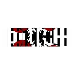 Red, black and white elegant design Satin Scarf (Oblong)
