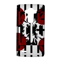 Red, Black And White Elegant Design Lg G4 Hardshell Case