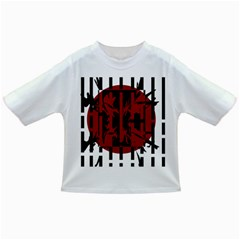 Red, black and white decorative design Infant/Toddler T-Shirts