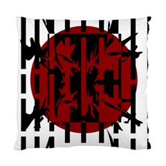Red, black and white decorative design Standard Cushion Case (One Side)