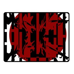 Red, black and white decorative design Fleece Blanket (Small)