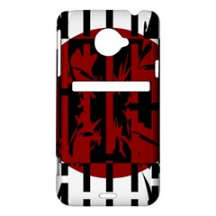 Red, black and white decorative design HTC Evo 4G LTE Hardshell Case