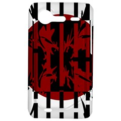 Red, black and white decorative design HTC Incredible S Hardshell Case