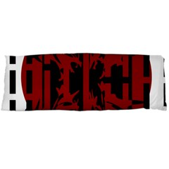 Red, black and white decorative design Body Pillow Case Dakimakura (Two Sides)