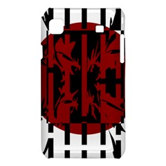 Red, black and white decorative design Samsung Galaxy S i9008 Hardshell Case