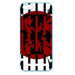 Red, black and white decorative design Apple Seamless iPhone 5 Case (Color)
