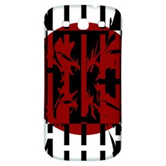 Red, black and white decorative design Samsung Galaxy S3 S III Classic Hardshell Back Case
