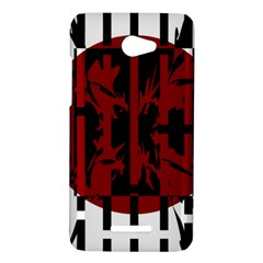Red, black and white decorative design HTC Butterfly X920E Hardshell Case