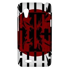 Red, black and white decorative design HTC Desire VT (T328T) Hardshell Case