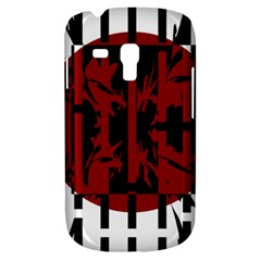 Red, black and white decorative design Samsung Galaxy S3 MINI I8190 Hardshell Case