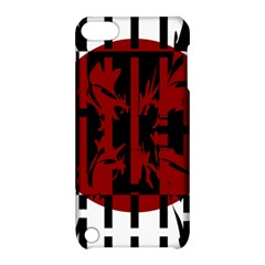 Red, black and white decorative design Apple iPod Touch 5 Hardshell Case with Stand