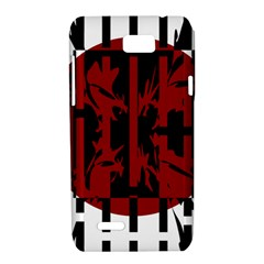 Red, black and white decorative design Motorola XT788