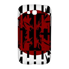 Red, black and white decorative design Samsung Galaxy Grand GT-I9128 Hardshell Case