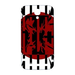 Red, black and white decorative design Samsung Galaxy S4 I9500/I9505  Hardshell Back Case