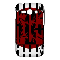 Red, black and white decorative design Samsung Galaxy Ace 3 S7272 Hardshell Case