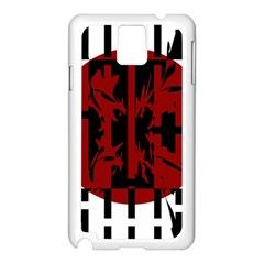 Red, black and white decorative design Samsung Galaxy Note 3 N9005 Case (White)