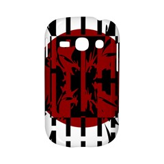 Red, black and white decorative design Samsung Galaxy S6810 Hardshell Case