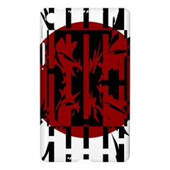 Red, black and white decorative design Nexus 7 (2013)