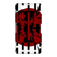 Red, black and white decorative design Sony Xperia Z1 Compact