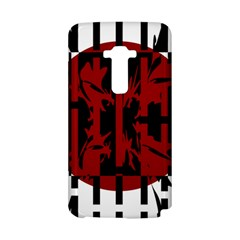 Red, black and white decorative design LG G Flex