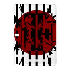 Red, black and white decorative design Samsung Galaxy Tab Pro 10.1 Hardshell Case