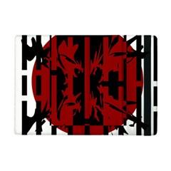 Red, black and white decorative design iPad Mini 2 Flip Cases
