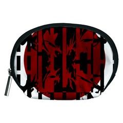 Red, black and white decorative design Accessory Pouches (Medium)