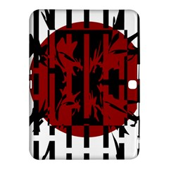 Red, black and white decorative design Samsung Galaxy Tab 4 (10.1 ) Hardshell Case