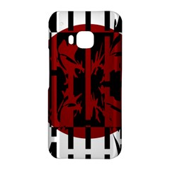 Red, black and white decorative design HTC One M9 Hardshell Case