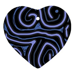 Blue abstract design Ornament (Heart)