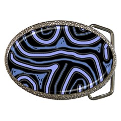Blue abstract design Belt Buckles