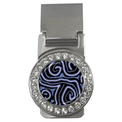 Blue abstract design Money Clips (CZ)