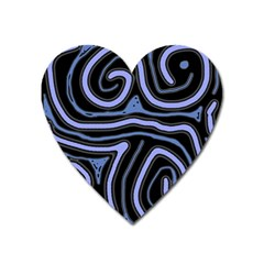 Blue abstract design Heart Magnet