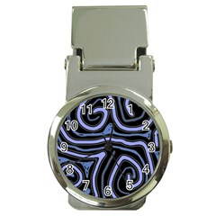 Blue abstract design Money Clip Watches
