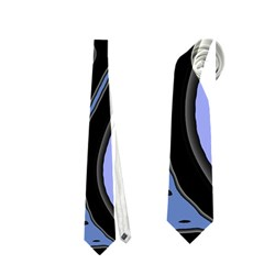 Blue abstract design Neckties (One Side)