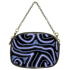 Blue abstract design Chain Purses (Two Sides)