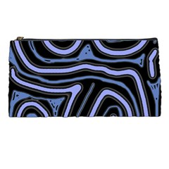 Blue abstract design Pencil Cases