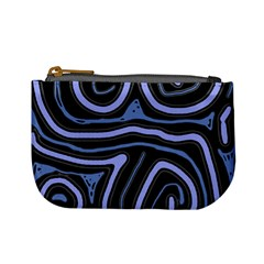 Blue abstract design Mini Coin Purses