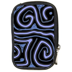 Blue abstract design Compact Camera Cases